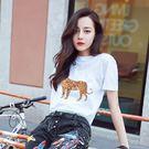 VK精品服飾 韓國學院風t恤學生印花寬松圓領短袖上衣