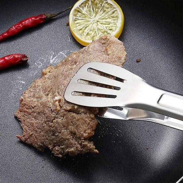 BO雜貨【SV9753】7吋不鏽鋼食物夾 麵包夾 料理夾 分菜夾 烤肉夾 饅頭牛排 烘焙夾