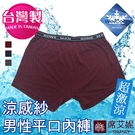 男性 MIT舒適 平口內褲 涼感紗材質 台灣製造 M-L-XL-2XL no.9196-席艾妮SHIANEY
