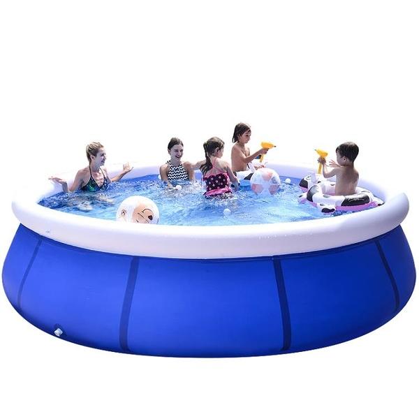 充氣泳池 兒童游泳池戶外超大號充氣嬰兒洗澡桶加厚大型成人小孩家用戲水池 夢藝
