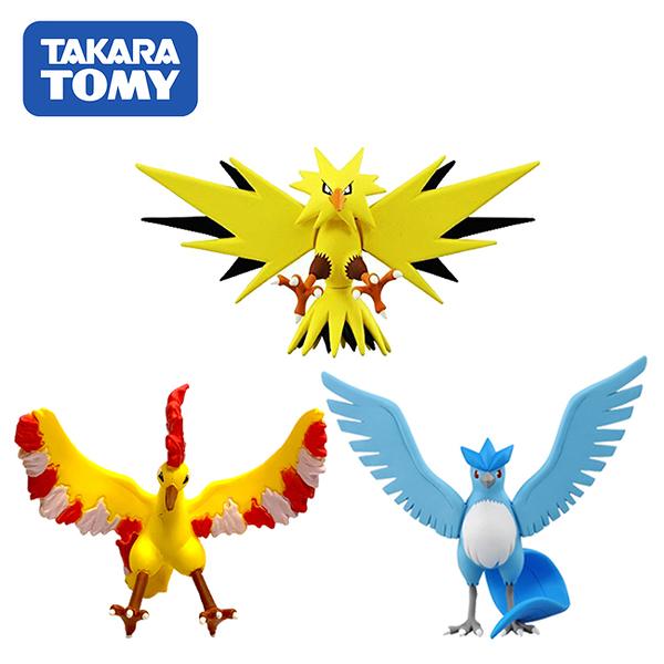 【日本正版】寶可夢 造型公仔 MONCOLLE-EX 神奇寶貝 閃電鳥 火焰鳥 急凍鳥 137108 137115 137122