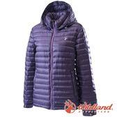 【wildland 荒野】女 700FP時尚輕量羽絨外套『深紫』0A62105 戶外 登山 露營 出國 賞雪 冬季 禦寒 保暖