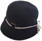 DAKS【日本代購】羊毛女士帽 秋冬款 日本製 黑色-D8115