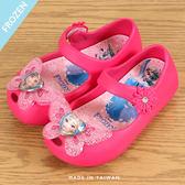 女童 Frozen 冰雪奇緣 安娜艾莎 蝴蝶裝飾 防水 娃娃鞋 涼鞋 洞洞鞋 果凍鞋 MIT製造 59鞋廊