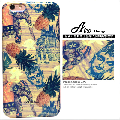 3D 客製 曼谷 民族風 大象 鳳梨 iPhone 6 6S Plus 5 5S SE S6 S7 M9 M9+ A9 626 zenfone2 C5 Z5 Z5P M5 G5 G4 J7 手機殼