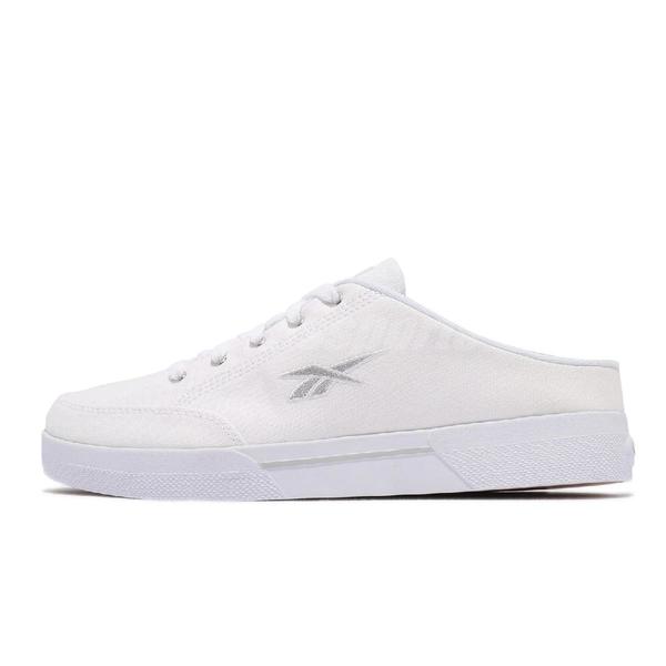 Reebok 穆勒鞋 Slice Mule CVS 白 銀 懶人鞋 女鞋 帆布鞋 套入式 休閒【ACS】 FX3920