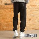 【CP1780】優選質感彈力太空棉縮口休閒運動長褲(黑色)● 樂活衣庫