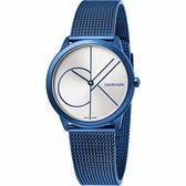 【即將漲價】Calvin Klein CK Minimal 經典大LOGO手錶-白x藍/35mm K3M52T56