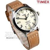 TIMEX 天美時 冷光照明 超質感時尚簡約腕錶 真皮錶帶 女錶 淺咖啡 TXT2P84500