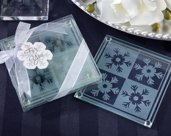 雪花杯墊-透明 (兩入裝)/組~~ 婚禮小物 送客小禮 婚禮佈置
