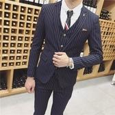 西裝套裝含西裝外套+西裝褲(三件套)-精緻質感線條設計男西服3色73hc25【時尚巴黎】