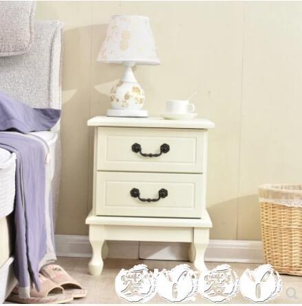 床頭櫃北歐實木床頭櫃簡約現代臥室儲物櫃迷妳床邊櫃收納邊角抽屜櫃LX 愛丫愛丫