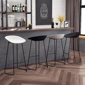 北歐鐵藝創意簡約時尚酒吧台椅凳子休閒咖啡廳前台高腳凳WY【折現卷+85折】