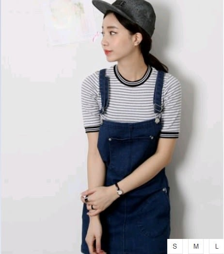 EASON SHOP(GU0816)韓國純色丹寧雙口袋藍色牛仔吊帶裙 S-L 短裙東大門背帶交叉連身裙洋裝