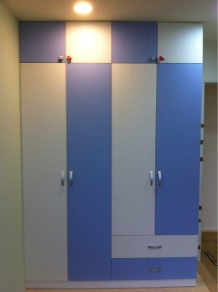【系統家具】系統收納櫃 小孩房系統衣櫃~藍白跳色搭配 小男孩路線