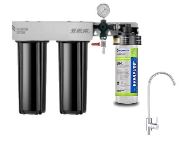 愛惠浦EVERPURE PurVive-Trio 2HL + RES-800 + PF-101 極致精緻型淨水器3管 ~ 含標準安裝