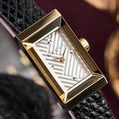 GUCCI G-FRAME 復古刻紋蜥蜴皮革金框腕錶 YA147507 熱賣中!