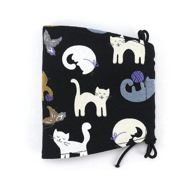 口罩 包包 防水包 雨朵小舖雨朵防水包 N036-466 布面大人口罩-黑線球笑笑貓14227 funbaobao