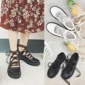 日系學院風英倫小皮鞋女平底娃娃鞋