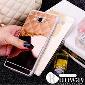 【R】玫瑰金 TPU電鍍鏡面 矽膠 透明 手機殼 防摔 軟殼 三星 保護套 S6 edge plus S7