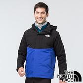 【THE NORTH FACE 美國】男GORE-TEX二件式羽絨連帽外套『EF1藍/黑』NF0A3VSH 戶外 登山 保暖外套