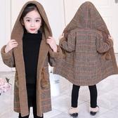 風衣秋冬羽絨服 中大童韓版外套 加絨中長款潮流夾克兒童裝棉服 女孩毛呢保暖百搭女童外套