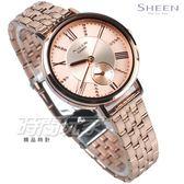 SHEEN SHE-3066PG-4A 耀眼迷人風采 羅馬時刻 鑲鑽 玫瑰金 女錶 SHE-3066PG-4AUDF CASIO卡西歐