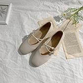 低跟鞋 MG小象低跟方頭單鞋女夏季復古時尚通勤仙女風淺口小皮鞋  芊墨左岸 上新