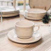 【義大利Tognana】OUVERTUR 經典咖啡杯組200cc(白咖啡杯/杯碟/下午茶組/ 象牙白)