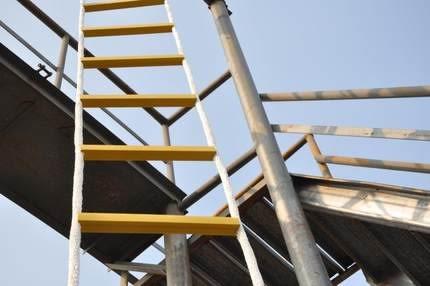 軟梯繩梯5米消防逃生軟梯訓練軟梯子攀登爬梯救生軟梯尼龍繩軟梯 萌萌小寵 DF
