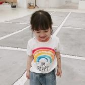 短袖T恤 新款男童女童童裝兒童卡通圓領上衣