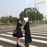 女夏ulzzang韓版寬鬆港風復古顯瘦中長款打底洋裝學生長裙