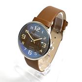 韓國手錶 DON BOSCO咖啡數字皮革錶NEKD12