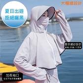 LAURA舒適透氣大帽緣多功能防曬罩衫-灰色
