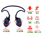 V30 骨傳導無損音樂MP3耳機 4Gb 骨傳導技術 不阻擋外界環境音 安全 清晰 舒適