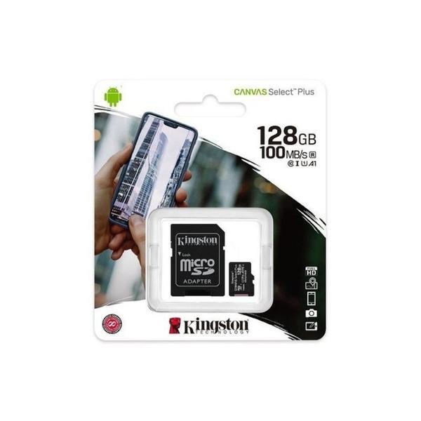 新風尚潮流 【SDCS2/128GB】 金士頓 記憶卡 128G Micro-SDXC A1 讀100MB/s 手機可用 FullHD Android 高畫質 Microsd