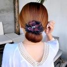 盤髪器 丸子頭花朵盤髮器造型器韓國頭飾百變蓬松花苞頭卷髮器懶人髮帶女