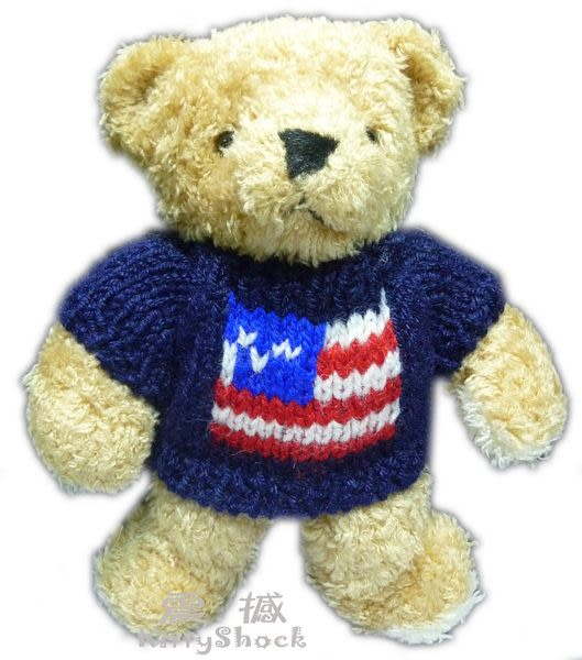 【震撼精品百貨】Teddy Bear 泰迪熊~絨毛娃娃玩偶『深藍毛線衣』