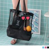 《ZB0643》網狀拼接下層收納防潑水購物袋/行李袋 OrangeBear