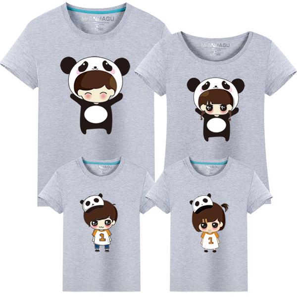 ★韓版MH-S1654《熊貓寶寶》短袖親子裝♥情侶裝♥多色可選
