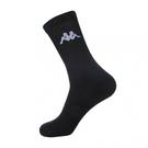 KAPPA 時尚型男休閒運動中筒襪~黑 6雙