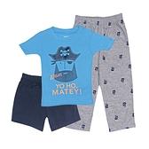 【北投之家】男寶寶睡衣三件組 短袖上衣+短褲+睡褲 藍色 | Carter s卡特童裝 (嬰幼兒/小孩/baby)