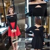 現貨紅色L長袖洋裝連身裙禮服24299//現貨類商品請和其他商品分開下單謝謝