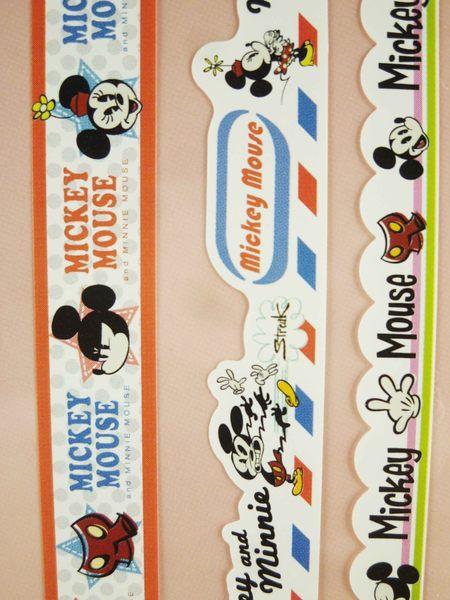 【震撼精品百貨】Micky Mouse_米奇/米妮 ~貼紙-綜合藍粉