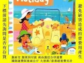 二手書博民逛書店Busy系列罕見英文原版啓蒙 Busy Holiday 紙板Y2