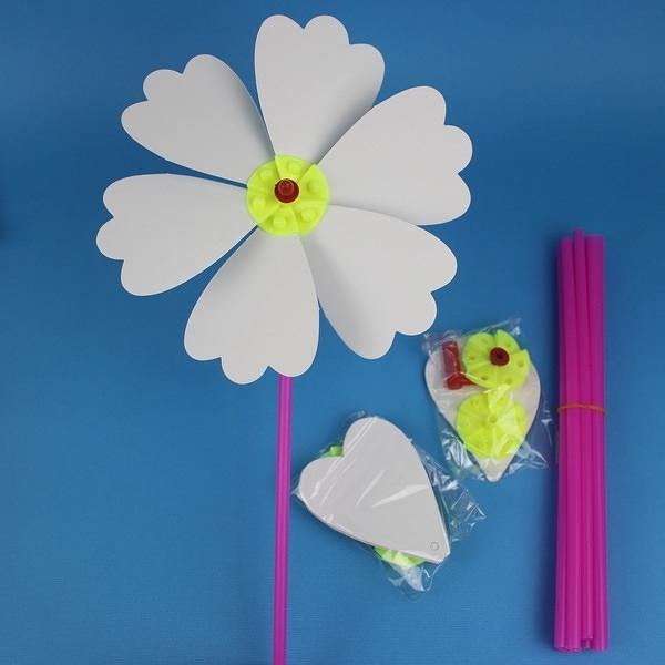 空白風車 DIY風車 彩繪風車(大/六片紙)/一個入(促20) 空白紙風車 紙風車-5693-4135-6492