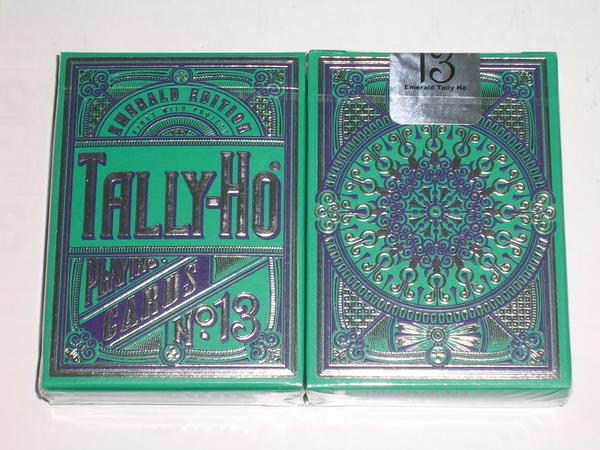 【USPCC 撲克】Emerald tally ho LTD deck 無序號