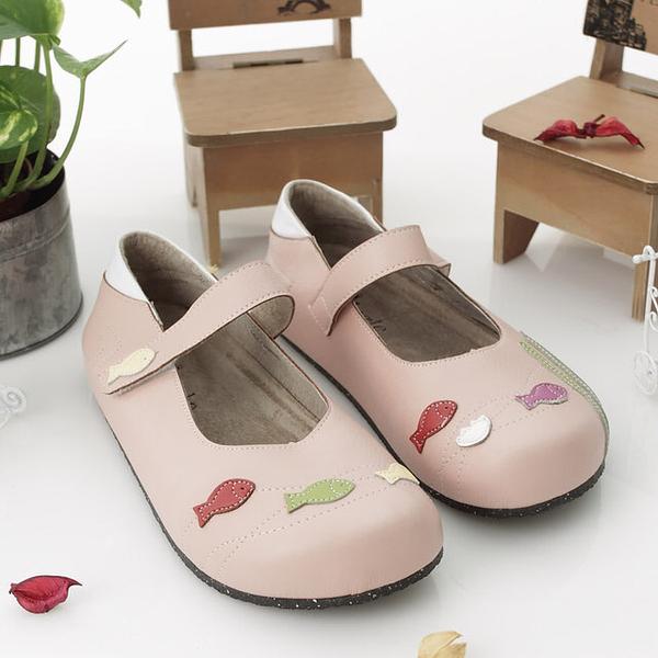 【Jingle】魚兒魚兒水中游全包款軟木鞋(粉色大人款)