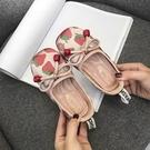 公主鞋草莓女童鞋子小皮鞋軟底豆豆鞋兒童單鞋【淘嘟嘟】
