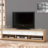 【森可家居】米堤原木色6尺電視櫃 8ZX571-4 長櫃 木紋質感 日式 日系 無印風 北歐風